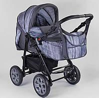 Коляска для новорожденных Viki (трансформер зима-лето), Серо-фиолетовая 86- С 244