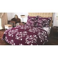 Комплект постельного белья бязь Белые Цветы (157303) ТМ Крис-Пол Полуторный