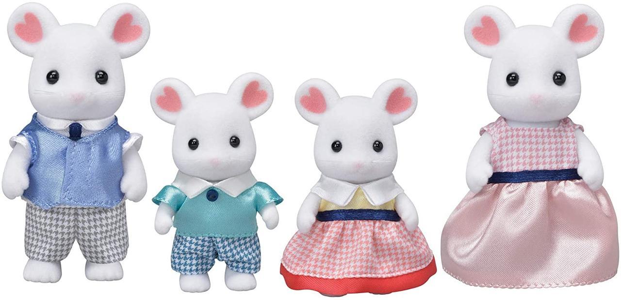 Sylvanian Families сім'я білосніжних мишей Calico critters Marshmallow Mouse Family