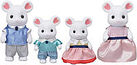 Sylvanian Families сім'я білосніжних мишей Calico critters Marshmallow Mouse Family, фото 1