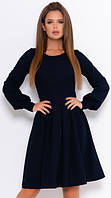 Классическое платье с длинными рукавами ISSA PLUS 11060 S-XL (44-50) Темно-синий