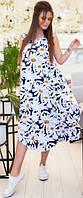 Платье - сарафан с цветочным принтом ISSA PLUS 11683 S-5XL (44-58) Разноцветный