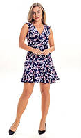 Летнее женское платье 00523 KML S-L (44-48) Cиний L