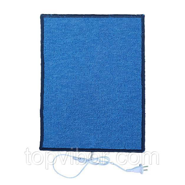 Электро-коврик с подогревом (синий, прямоугольные углы, 50 x 33 см) электрический Трио 01502