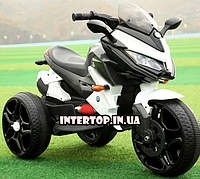 Детский трехколесный электро мотоцикл на аккумуляторе BMW T-7231 белый трицикл для детей от 3 до 6 лет