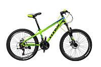 """Велосипед Titan Flash 24"""" 12"""" Зелёный-Голубой-Чёрный"""