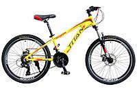 """Велосипед Titan Scorpion 24"""" 12"""" Жёлтый-Чёрный-Красный"""