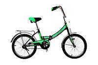 """Велосипед Titan Десна 20"""" 16"""" Чёрный-Зелёный-Белый"""