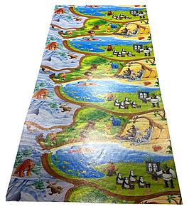"""Розвиваючий ігровий килимок """"Мадагаскар"""" 3000х1200х12 мм, дитячий килимок для повзання"""