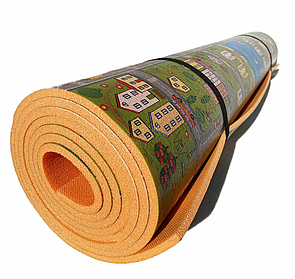 Триметровий дитячий килимок (3000х1200х8мм) «Паркове містечко», теплоізоляційний розвиваючий килимок для дітей