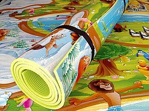 """Дитячий ігровий килимок """"Мадагаскар"""" розмір 2500х1200х8мм. Теплоізоляційний, розвиваючий килимок для дітей"""