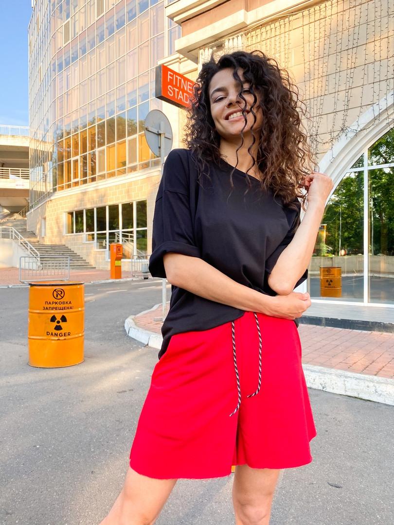 Женские   шорты  с высокой талией на резинке