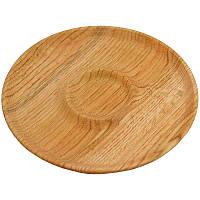 Доска для подачи шашлыков, Менажница деревянная, 30см