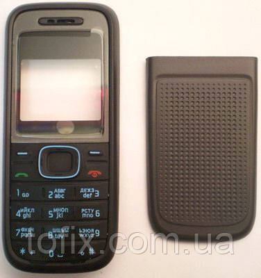 Корпус для Nokia 1208 с клавиатурой, черный