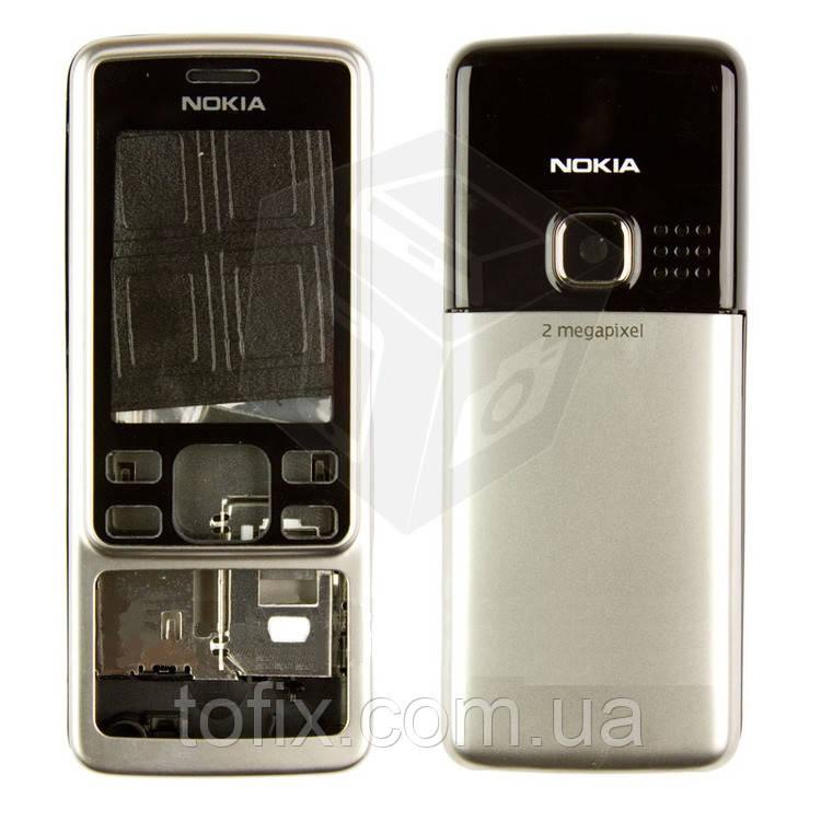 Корпус для Nokia 6300, серебристый