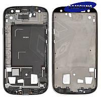 Рамка крепления дисплея для Samsung Galaxy S3 i9305, cеребристая, оригинал