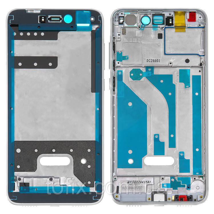 Рамка крепления дисплея для Huawei P8 Lite (2017), белая