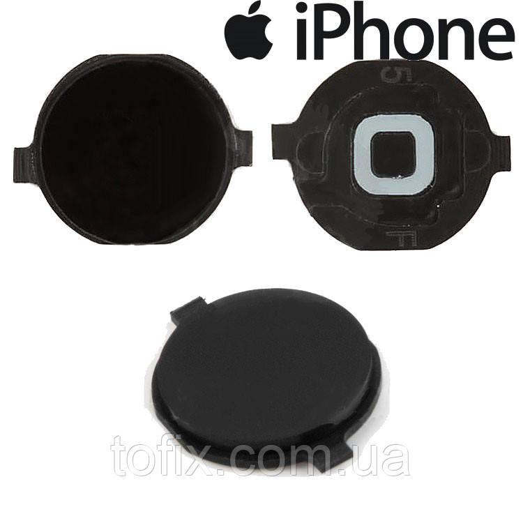 Пластик кнопки меню для iPhone 3G, iPhone 3GS, iPhone 4, черный