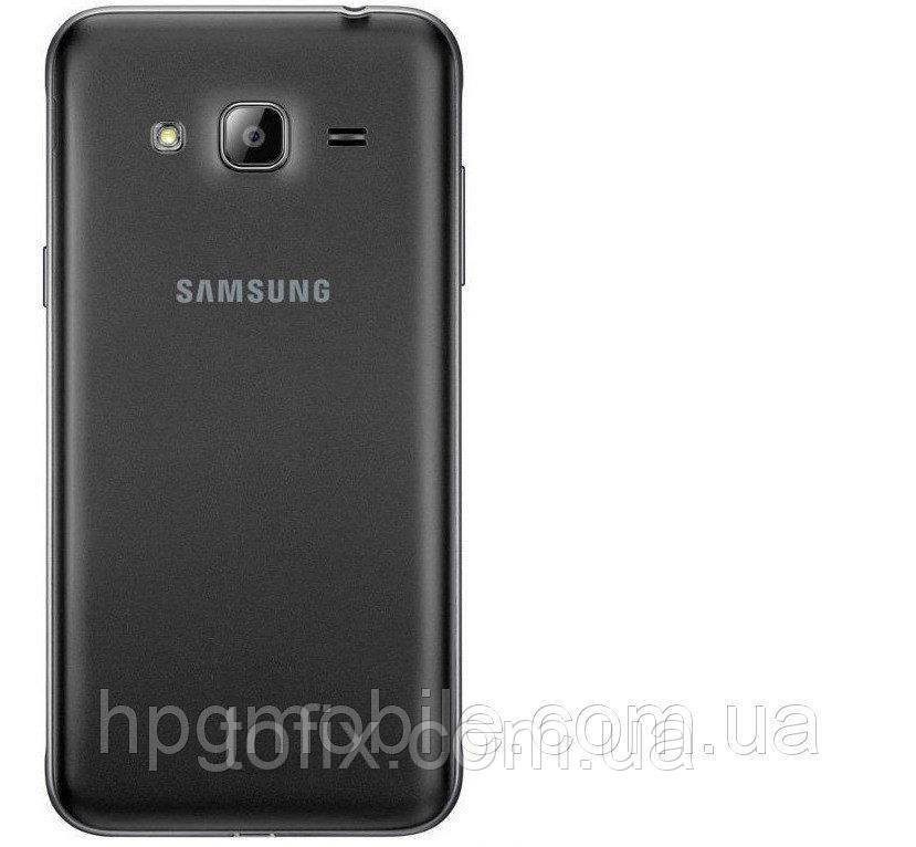 Задняя панель корпуса (крышка аккумулятора) для Samsung Galaxy J3 J300, черная