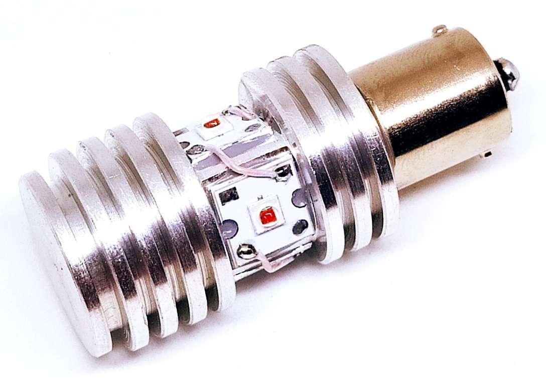 Автолампа светодиодная LED, P21W, BA15S, 1156, Cree, для авто USA , Желтый