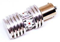 Автолампа светодиодная LED, P21W, BA15S, 1156, Cree, для авто USA , Желтый, фото 1
