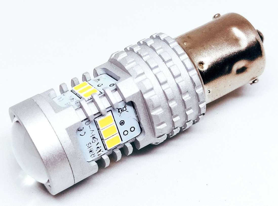 Автолампи LED, P21W, 1156, 14 SMD 2030, 9-16V, Біла