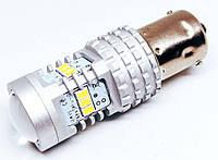 Автолампи LED, P21W, 1156, 14 SMD 2030, 9-16V, Біла, фото 1