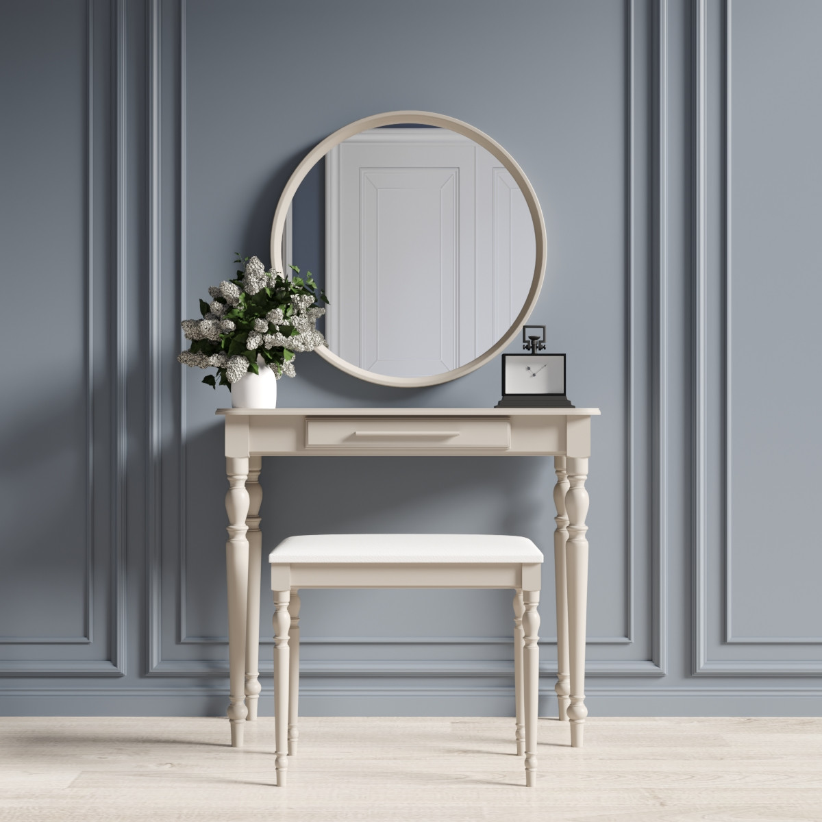 """Туалетний столик з дзеркалом та банкеткою """"Ренесанс Капучіно"""""""