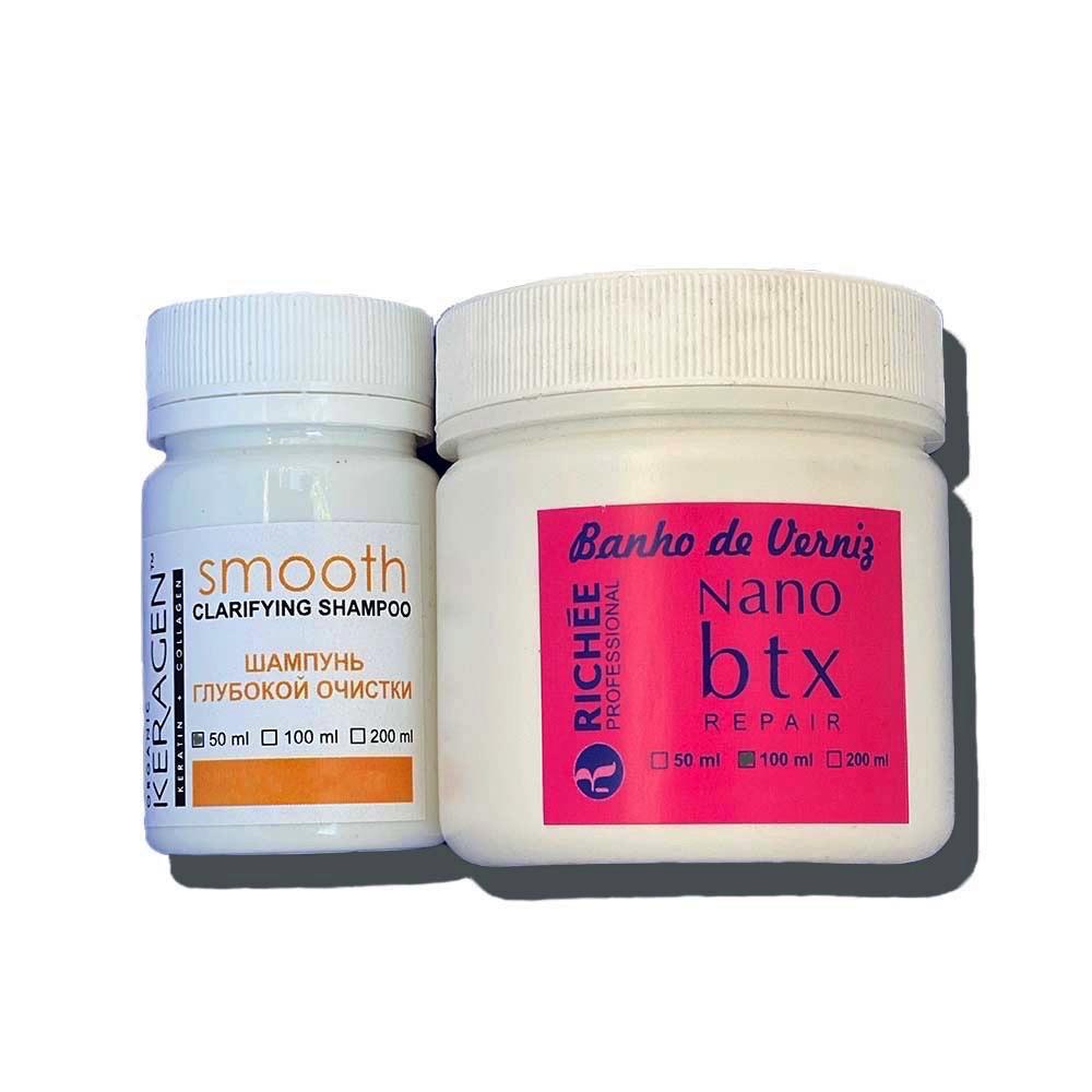 Richée Banho de Verniz Nano Btx Набор ботекс-глянец для волос 50/100 мл