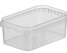 Контейнер пластиковый 0,5л прямоугольный для пищевых продуктов