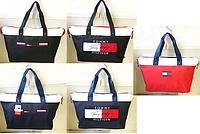 Спортивные сумки Tommy Hilfiger текстиль+кожаная вставка  (5 цветов)33*52см