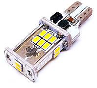 LED автолампа лед диодная T15 W16W, SMD 2030, 12В, 16Вт, Canbus, Белый, фото 1