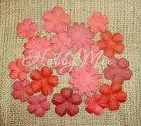 Набор цветов Dovecraft Paper Blossoms - Red