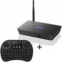 Смарт приставка ADTV X92 3+32Gb AMLOGIC S912 8 ядер 64 BIT с клавиатурой i8 в комплекте