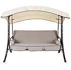 Садова гойдалка 4-х місна Флоренція з дашком + крісло-гойдалка, фото 3