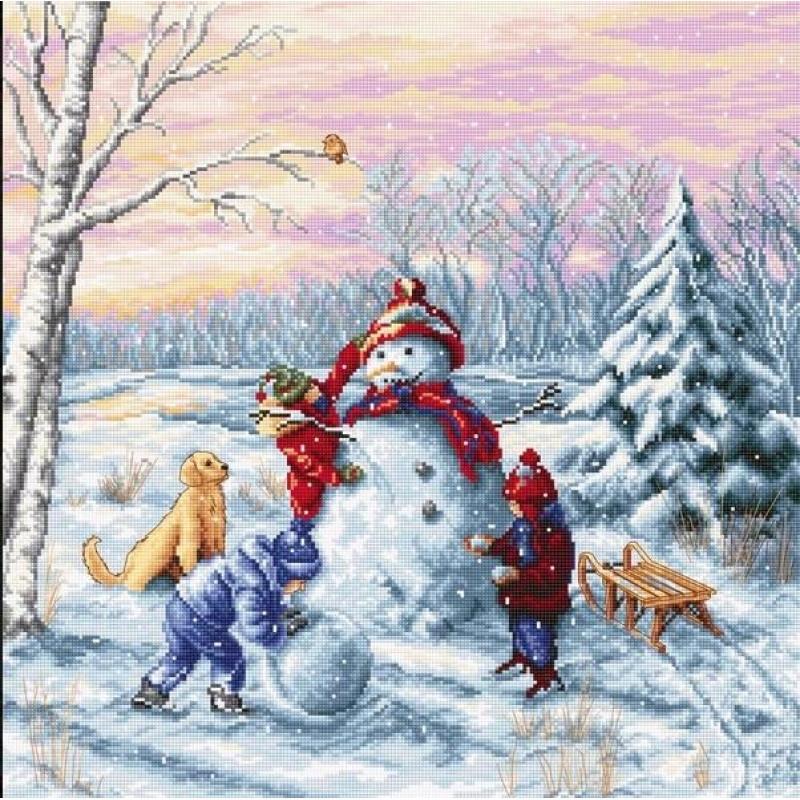 Наборы для вышивания крестом Luca S Счастливое Рождество