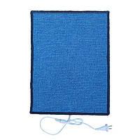 Електро-килимок з підігрівом (синій, прямокутні кути, 50 x 33 см) електричний Тріо 01502