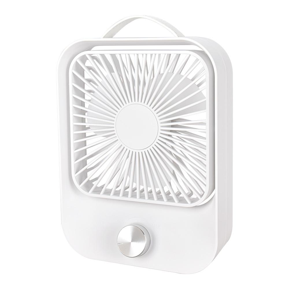 Вентилятор настольный бесшумный аккумуляторный LOSSO LJQ-119 белый