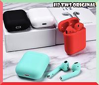 Беспроводные наушники TWS i12 5.0 Bluetooth сенсорные с магнитным кейсом Навушники в стиле Аирподс AirPods