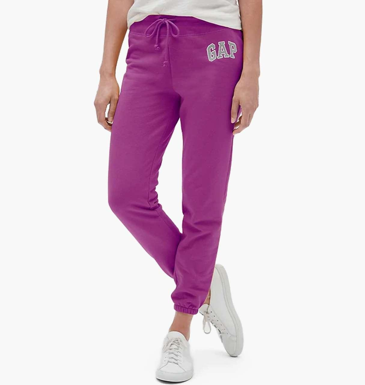 Женские джоггеры GAP спортивные штаны art590058 (Фиолетовый, размер XXL)