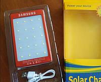 Power bank solar samsung 40000 mah с солнечной батареей, Красный, фото 1