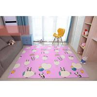 Двухстронний складной детский коврик-игрушка Sticker Wall 1,20 x 1,80 см. Толщиной 1см. Развивающий,