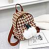 Модный твидовый рюкзак с брелком Ягодка, фото 4