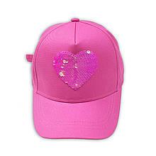 Детская розовая кепка с паеткой для девочки, возраст 10/13 лет