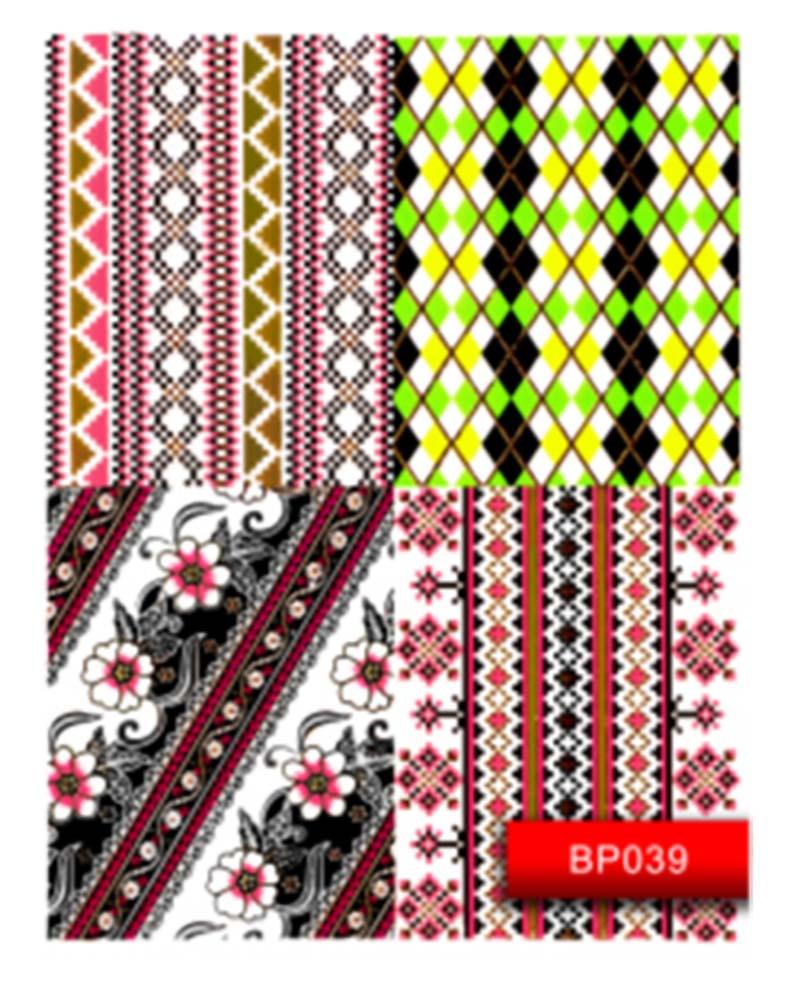 Наклейка для дизайна ногтей Kodi Professional Nail Art Stickers BP039