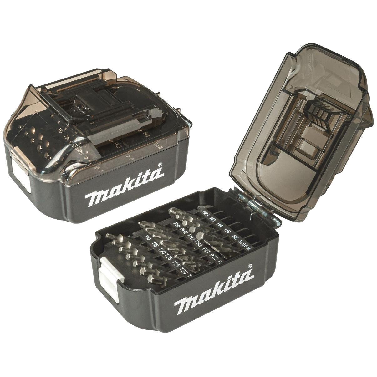 Набір біт Makita в футлярі форми батареї LXT 21 предмет