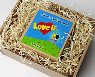 """Печенье с пожеланиями  """"Love is"""" в праздничной упаковке - Подарок для влюбленных - Подарок на 14 февраля"""