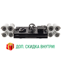 Комплект видеонаблюдения GreenVision GV-IP-K-S32/08 1080P