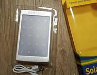Power bank solar samsung 40000 mah с солнечной батареей, Серебристый, фото 1