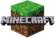 Наклейка на коробку-сюрприз Minecraft / Майнкрафт